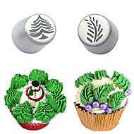 billige -Bakeware verktøy Rustfritt Stål + A-klasse ABS baking Tool Dagligdags Brug Cake Moulds 2pcs