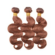 Virgin Brazilian Precolored Hair Weaves Body Wave Hair Extensions 3 Pieces Medium Auburn