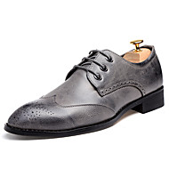 cheap Shoes & Bags-Men's Formal Shoes Faux Leather Fall / Winter Oxfords Black / Gray / Burgundy / Wedding / Party & Evening