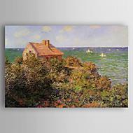 billiga Landskapsmålningar-Hang målad oljemålning HANDMÅLAD - Landskap Modern Duk / Valsad duk