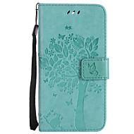 billiga Mobil cases & Skärmskydd-fodral Till LG G3 Mini / LG G3 / LG K8 Plånbok / Korthållare / med stativ Fodral Katt / Träd Hårt PU läder för LG X Power / LG V20 / LG V10 / LG G4 / LG K10