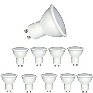 billige Spotlys med LED-10pcs 6w dimbar cob led spotlight gu10 / mr16 (gu5.3) 90-120degree strålevinkel spotlight led lampe for downlight bordlampe ac220-240v