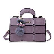 Women Bags PU Shoulder Bag for Casual Office & Career All Seasons Black Gray Purple Dark Red