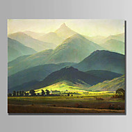 cheap Oil Paintings-Hand-Painted Landscape Horizontal,Modern One Panel Canvas Oil Painting For Home Decoration