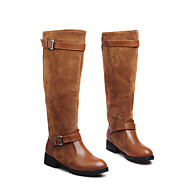 Women's Shoes Fleece Winter Riding Boots Boots Flat Heel Knee High Boots For Casual Outdoor Black Brown