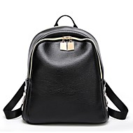 Women Bags All Seasons PU Backpack Beading for Casual Office & Career Black