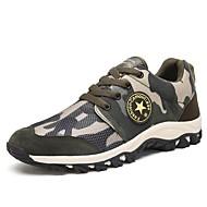 Dames Sportschoenen Vulcanized Shoes Herfst Winter Tule Kunstleer Trektochten Sportief Lage hak Leger Groen Onder 2,5cm
