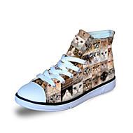 baratos Sapatos de Menino-Para Meninos Sapatos Lona Primavera / Outono Conforto Tênis para Cinzento / Marron / Azul
