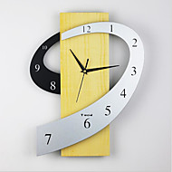 "cheap Summer Sale-Casual / Country / Office / Business Natural Wood 2"" Diamond Indoor / Outdoor / Indoor,AAA Wall Clock"
