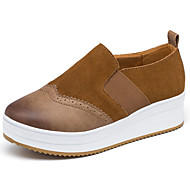 cheap Women's Slip-Ons & Loafers-Women's Shoes Suede Spring Fall Comfort Loafers & Slip-Ons Low Heel Round Toe for Black Brown