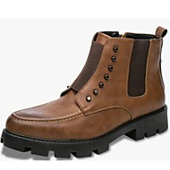 cheap Men's Boots-Men's Shoes Synthetic Fall / Winter Bootie / Combat Boots Boots Booties / Ankle Boots Black / Brown / Party & Evening