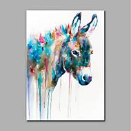 Peint à la main Animal Format Vertical,Moderne Un Panneau Toile Peinture à l'huile Hang-peint For Décoration d'intérieur
