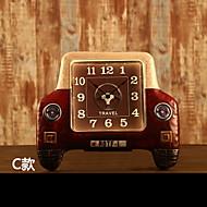 e-home®レトロカーモデリングメタルウォールクロック1台4タイプ