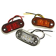 sencart 2led weiß / rot / gelb LED-Clearance Seite Marker Licht LKW Auto Anhänger Anhänger Lampe 9-30V