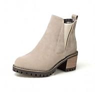 baratos Sapatos Femininos-Mulheres Sapatos Courino Outono / Inverno Conforto / Inovador / Curta / Ankle Botas Salto Plataforma Ponta Redonda Botas Curtas / Ankle