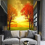 billige Tapet-Tre Natur og landskap Blad Hjem Dekor Pastorale Stilen Moderne Tapetsering, Lerret Materiale selvklebende nødvendig Veggmaleri, Tapet