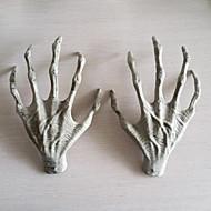 2pcs halloween plástico esqueleto mãos mão bruxa assombrada casa escape horror adereços decorações