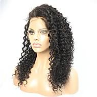 Remy kosa 360 Frontalni Perika Brazilska kosa Kovrčav Stepenasta frizura 150% 180% Gustoća Prirodna linija za kosu Kratko Medium Dug Žene