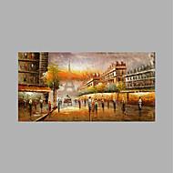 Χαμηλού Κόστους -Hang-ζωγραφισμένα ελαιογραφία Ζωγραφισμένα στο χέρι - Τοπίο Αφηρημένο Καμβάς