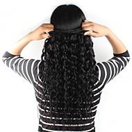 Gerçek Saç Düz Brezilya Saçı İnsan saç örgüleri Doğal Dalgalar Su Dalgası Saç uzatma 1 Siyah