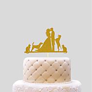 kolač topper vjenčanja srca papir vjenčanje s pvc torba vjenčanje prijem