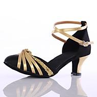 """billige Moderne sko-Dame Moderne Paljett Kustomiserte materialer Høye hæler Innendørs Kustomisert hæl Svart 2 """"- 2 3/4"""" Kan spesialtilpasses"""