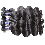 top original peruvian human hair bundles body wave 5pieces 500g lot natural black color 100% virgin hair material made