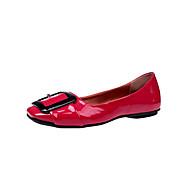 Damen Schuhe Lackleder Frühling Komfort Flache Schuhe Walking Flacher Absatz Spitze Zehe Schleife Für Normal Schwarz Rot