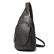 Man Tassen Alle seizoenen PU Sling Shoulder Bag voor Winkelen Causaal Zwart Koffie
