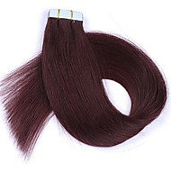 16''18''20''22'' 24'' Tape In Real Human Hair Extensions Straight 20 pcs Tape In Hair