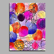 cheap Prints-Hand-Painted Holiday Vertical,Artistic Simple Classic Style Abstract Classic Lovers Birthday Cool Modern/Contemporary Office/Business