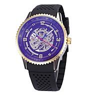 Pánské Dámské Hodinky s lebkou Náramkové hodinky mechanické hodinky japonština Automatické natahování Kalendář Chronograf Voděodolné S
