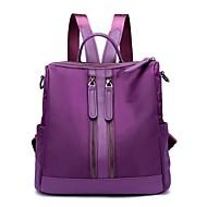 tanie Plecaki-Damskie Torby Nylon plecak Zamek Dark Blue / Gray / Purple