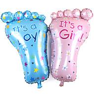 2 stuks / set 79 * 46cm grote voeten baby verjaardag decoratie achtergrond lay-out voet folie ballonnen