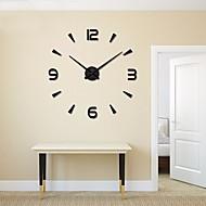 Χαμηλού Κόστους DIY Ρολόγια Τοίχου-Καθημερινό Μοντέρνο/Σύγχρονο Μεικτό Υλικό Κράμα Κυκλικό Εσωτερική/Εξωτερική,AA