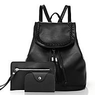 Kadın Çantalar PU Cepler için Günlük Tüm Mevsimler Siyah