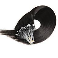 16-24 tuumainen 50g mikrorengas silmukka 100% ihmisen hiuslisäkkeet luonnollinen pehmeä, todella kauneus suora hiukset lahja 100strands
