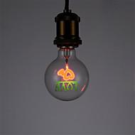 billige Glødelampe-1pc 1.5 W E26/E27 G80 2300 K AC 220-240V V