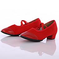 billige Moderne sko-Dame Moderne Lerret Joggesko Utendørs Kustomisert hæl Rød Kan spesialtilpasses