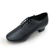billige Moderne sko-Herre Moderne Kunstlær Fuskelær Joggesko Høye hæler Daglig Svart