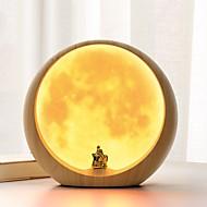 billige Lamper-Moderne Antikk Enkel Moderne Stil Rustikk Kreativ Traditionel / Klassisk Oppladbar Selvlysende Dekorativ Bordlampe Til Plast