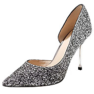 cheap Women's Heels-Women's Shoes PU Spring Summer D'Orsay & Two-Piece Basic Pump Heels Cone Heel Stiletto Heel Pointed Toe Closed Toe Sequin for Wedding