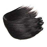Nieprzetworzone / Włosy virgin / Włosy naturalne remy Splot włosów / Kosmyki włosów ludzkich remy Dla czarnoskórych kobiet / 8a Prosta Włosy brazylijskie / Pakiety 0.2kg 1 rok / 12 miesięcy Na co