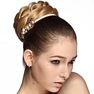 kvinners bun chignon klips i blond farge syntetisk chignon for kvinner