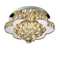 lightmyself 40cm trinnløs dimming moderne krystall taklampe innendørs lys til stue soverom spisestue