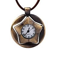 Χαμηλού Κόστους Μηχανικά Ρολόγια-Ανδρικά Μηχανικό κούρδισμα Ρολόι Τσέπης Κινέζικα Καθημερινό Ρολόι Δέρμα Μπάντα Βίντατζ Δημιουργικό Καφέ