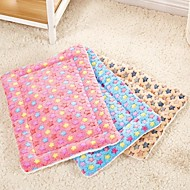Cat Dog Bed Pet Mats & Pads Stars Foldable Soft Durable Blushing Pink Blue Beige
