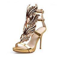 Feminino Sapatos Camurça Verão Conforto Saltos Para Casual Dourado Preto Prata