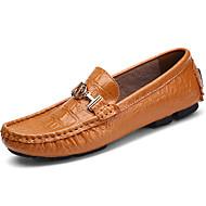 baratos Sapatos Masculinos-Homens Mocassim Pele Napa Outono / Inverno Mocassins e Slip-Ons Preto / Marron / Azul / Festas & Noite