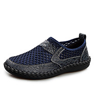 tanie Obuwie męskie-Męskie Komfortowe buty Tiul Lato Tenisówki brązowy / Ciemnoniebieski / Zielony
